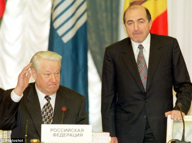 Berezovsky with former Russian President Yeltsin