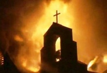 Unidentified Coptic church burns in Egypt