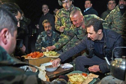 assad-dinner-with-troops