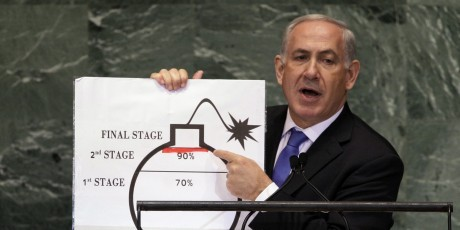 "Iran and ""The Bomb"" - Netanyahu before the UN, 9.27.12"